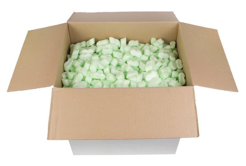Πλαστικοί προστατευτικοί κόκκοι μαγισσών κουτιών από χαρτόνι στοκ εικόνα