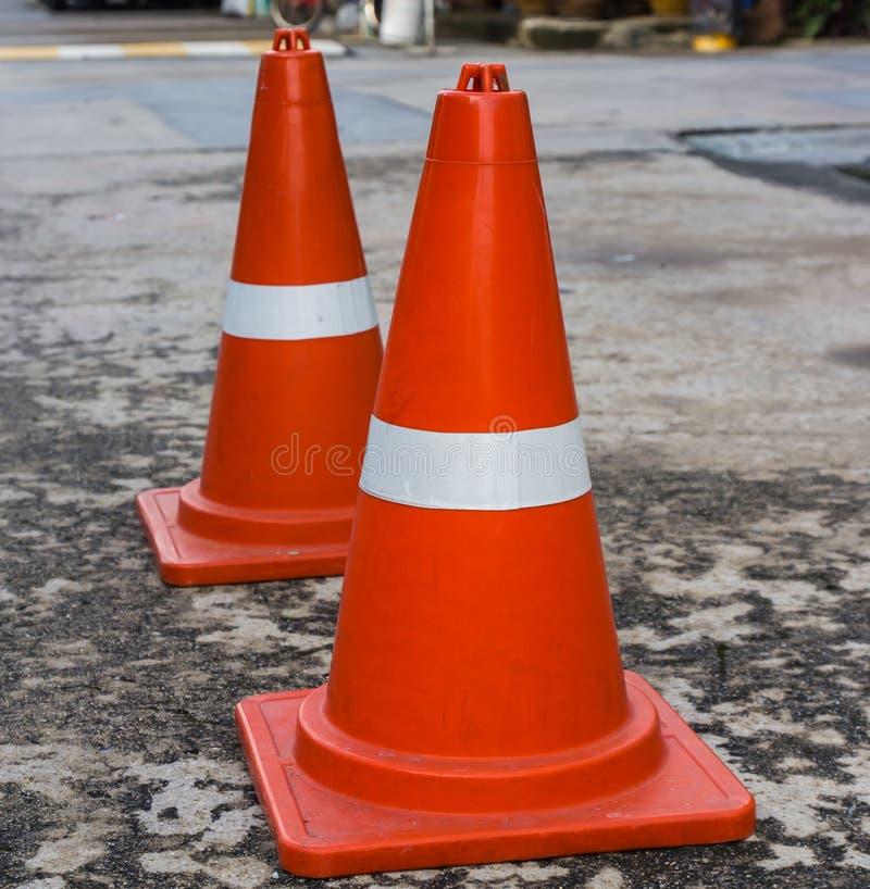 Πλαστικός πορτοκαλής οδικός κώνος στοκ φωτογραφία με δικαίωμα ελεύθερης χρήσης