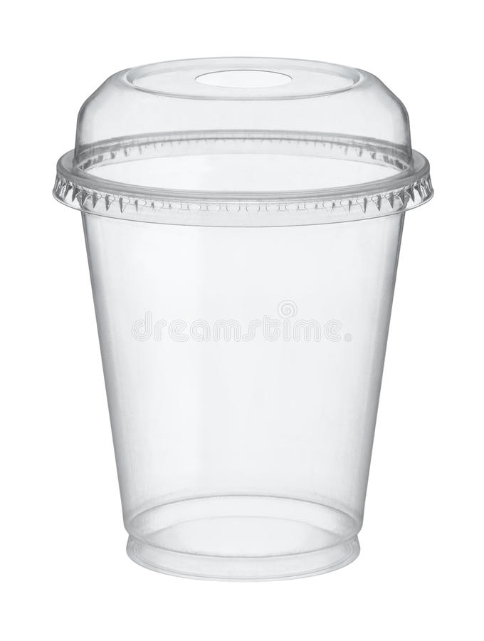 Πλαστικό γυαλί με το καπάκι στοκ εικόνα με δικαίωμα ελεύθερης χρήσης