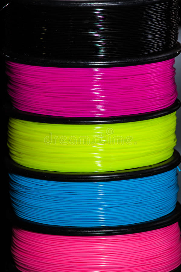 Πλαστικό καλωδίων ABS για τον τρισδιάστατο εκτυπωτή στοκ φωτογραφία