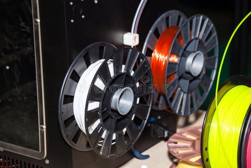 Πλαστικό καλωδίων ABS για τον τρισδιάστατο εκτυπωτή στοκ εικόνες