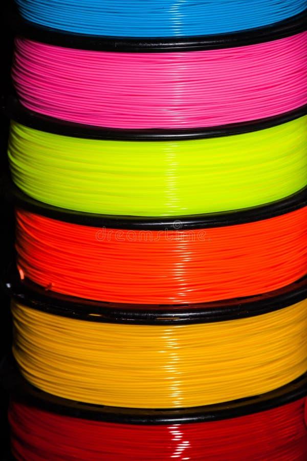 Πλαστικό καλωδίων ABS για τον τρισδιάστατο εκτυπωτή στοκ φωτογραφίες