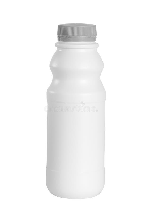 Πλαστικό μπουκάλι προϊόντων γάλακτος στοκ φωτογραφίες