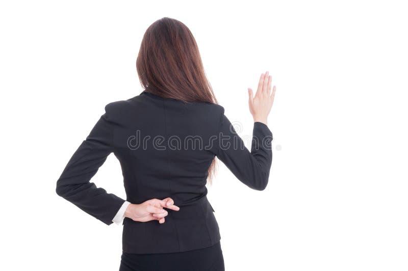 Πλαστός όρκος που γίνεται από τον ανέντιμο δικηγόρο γυναικών στοκ φωτογραφία με δικαίωμα ελεύθερης χρήσης
