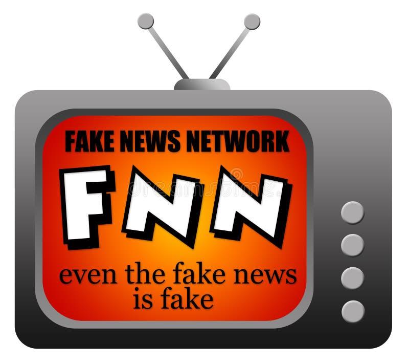 Πλαστό δίκτυο ειδήσεων απεικόνιση αποθεμάτων
