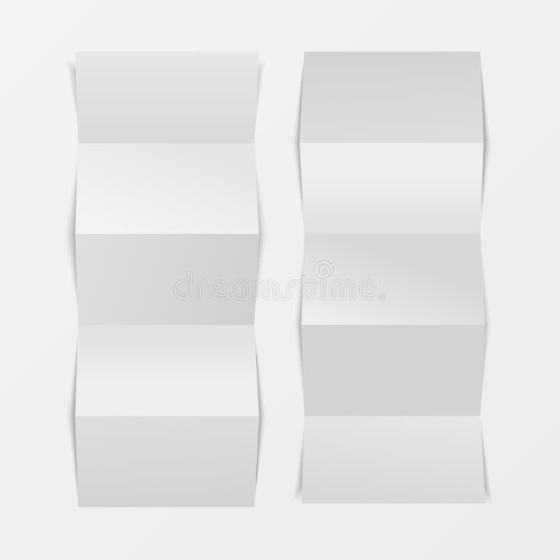 Πλαστό επάνω τρισδιάστατο κενό φυλλάδιων Τοπ όψη Για το φυλλάδιο, φυλλάδιο, τεύχος, handbill σχεδιάστε, καταχωρήστε το πρότυπο, σ διανυσματική απεικόνιση