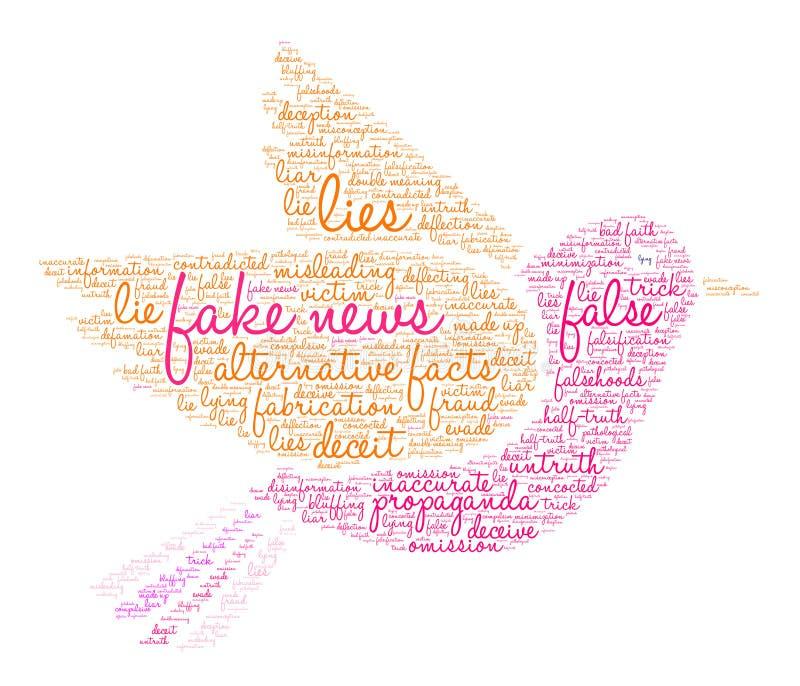 Πλαστό σύννεφο του Word ειδήσεων ελεύθερη απεικόνιση δικαιώματος