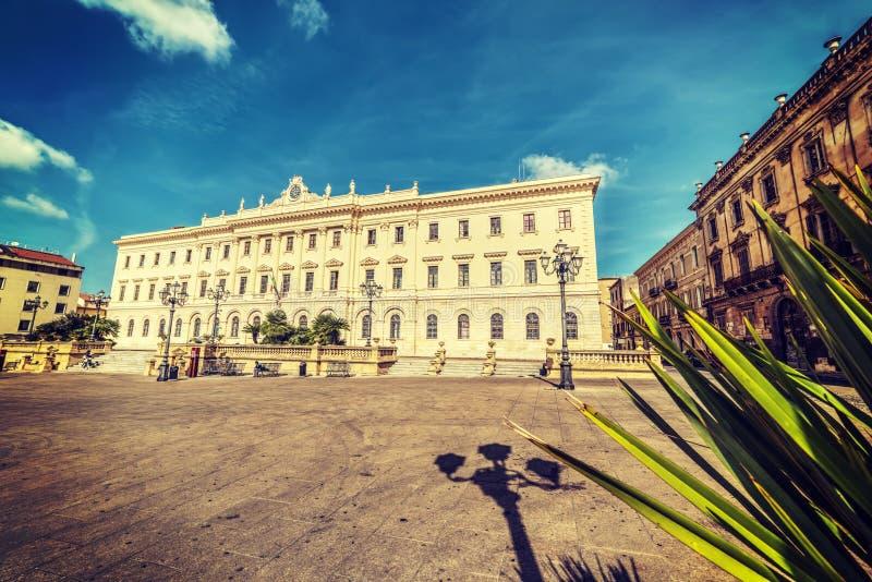 Πλατεία δ ` Ιταλία σε Sassari στοκ εικόνα