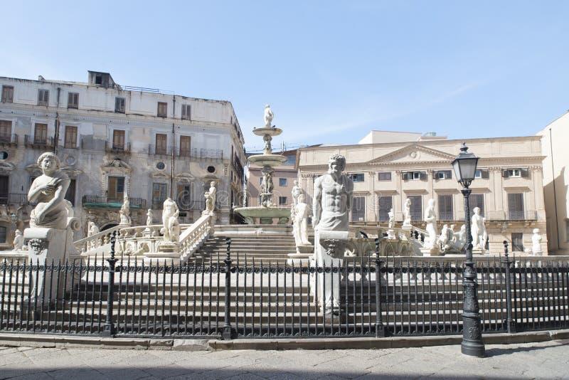 πλατεία Πραιτώρια Σικελία της Ιταλίας Παλέρμο στοκ εικόνες