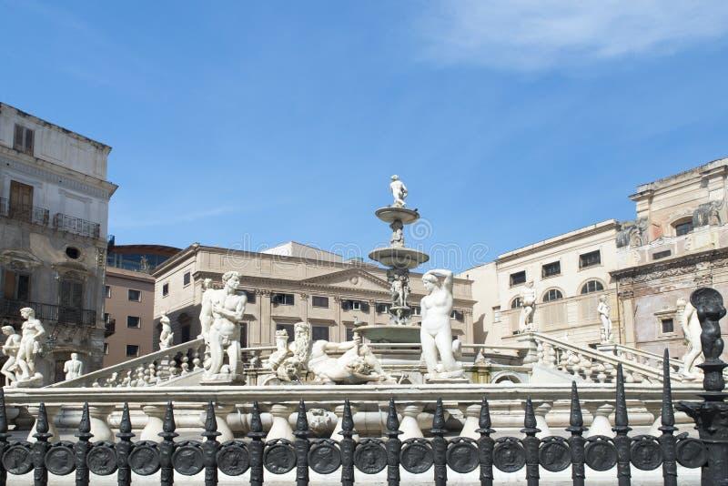 πλατεία Πραιτώρια Σικελία της Ιταλίας Παλέρμο στοκ εικόνα