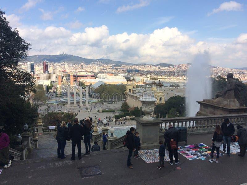 Πλατεία της Βαρκελώνης στοκ εικόνα με δικαίωμα ελεύθερης χρήσης