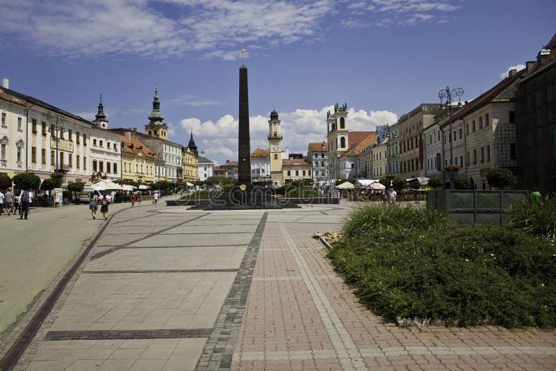Πλατεία της πόλης σε Banska Bystrica στοκ εικόνα με δικαίωμα ελεύθερης χρήσης