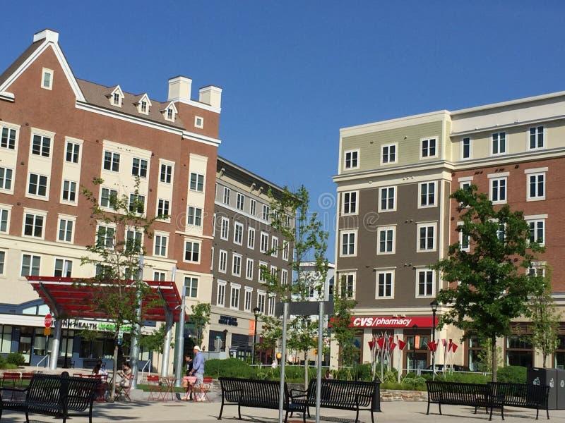 Πλατεία της πόλης στο πανεπιστήμιο του Κοννέκτικατ ( UConn)  σε Storrs, Κοννέκτικατ στοκ εικόνες
