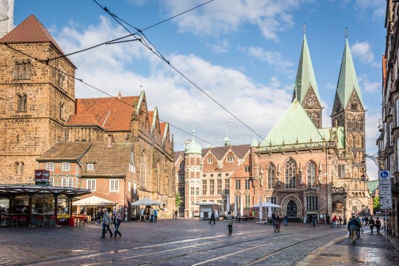 Πλατεία της πόλης της Βρέμης, Γερμανία στοκ εικόνα