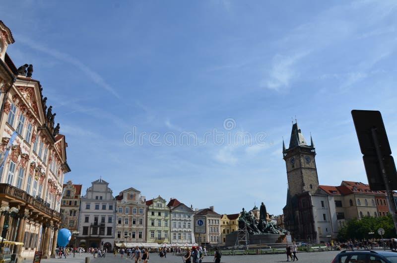Πλατεία της πόλης της Πράγας στοκ εικόνες