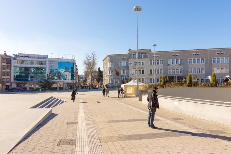 Πλατεία του Cyril και Methodius στο κέντρο Bourgas, Βουλγαρία στοκ φωτογραφίες με δικαίωμα ελεύθερης χρήσης