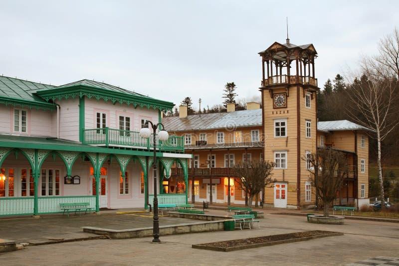Πλατεία του Jozef Dietl σε iwonicz-Zdroj Πολωνία στοκ εικόνα