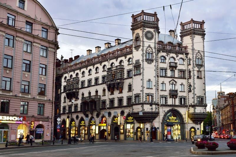 Πλατεία του Leo Tolstoy στη Αγία Πετρούπολη, Ρωσία στοκ εικόνα με δικαίωμα ελεύθερης χρήσης