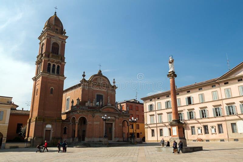 Πλατεία ΧΧ Settembre σε Castel SAN Pietro Terme στοκ φωτογραφία με δικαίωμα ελεύθερης χρήσης