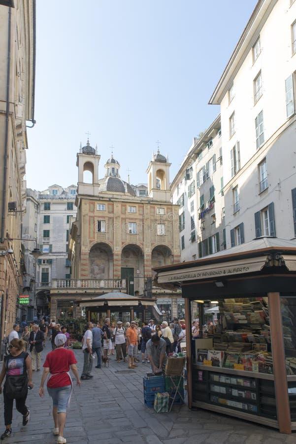 Πλατεία Banchi, Γένοβα στοκ φωτογραφία με δικαίωμα ελεύθερης χρήσης