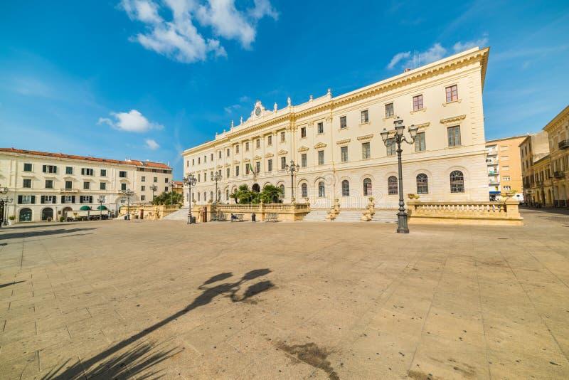 Πλατεία d& x27 Ιταλία σε Sassari μια σαφή ημέρα στοκ εικόνα με δικαίωμα ελεύθερης χρήσης