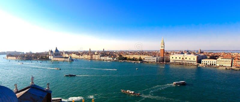 Πλατεία SAN Marco στη Βενετία, άποψη πανοράματος από την κορυφή στοκ εικόνα