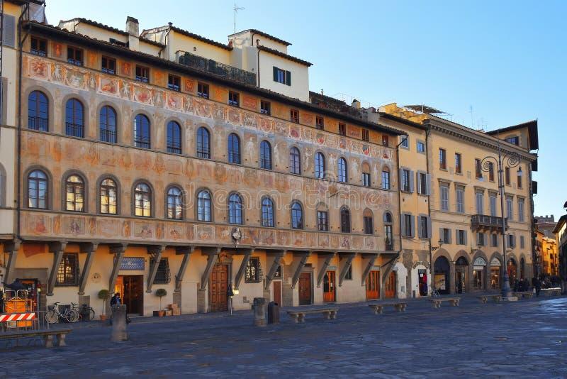 Πλατεία Santa Croce, Φλωρεντία, Ιταλία στοκ φωτογραφία με δικαίωμα ελεύθερης χρήσης