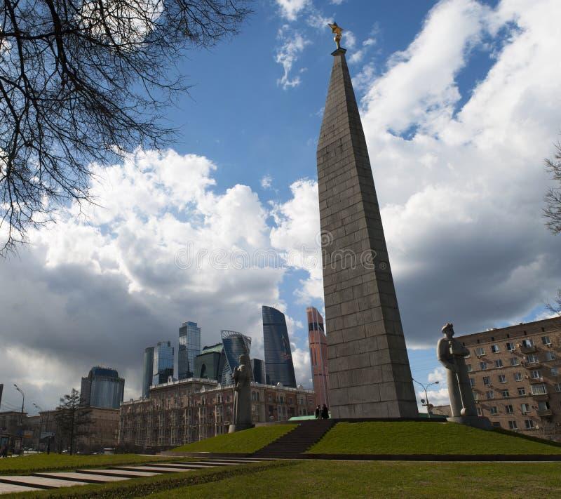 Πλατεία Zastava Dorogomilovskaya, Μόσχα, ρωσική ομοσπονδιακή πόλη, Ρωσική Ομοσπονδία, Ρωσία στοκ εικόνες