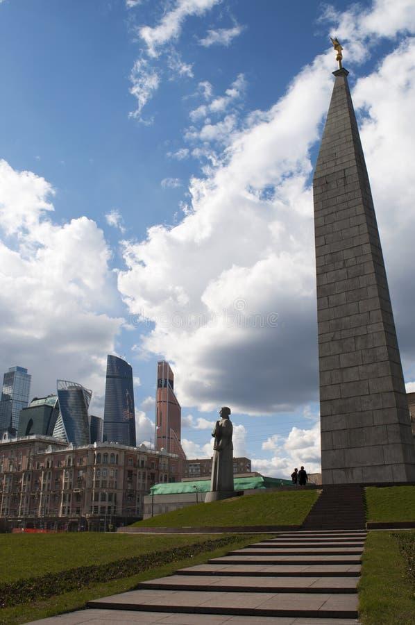 Πλατεία Zastava Dorogomilovskaya, Μόσχα, ρωσική ομοσπονδιακή πόλη, Ρωσική Ομοσπονδία, Ρωσία στοκ φωτογραφία