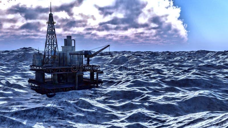 Πλατφόρμα πλατφορμών άντλησης πετρελαίου στοκ εικόνες με δικαίωμα ελεύθερης χρήσης