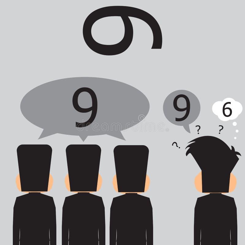 Πλειοψηφία των επιχειρηματιών ότι είναι αριθμός εννέα διανυσματική απεικόνιση