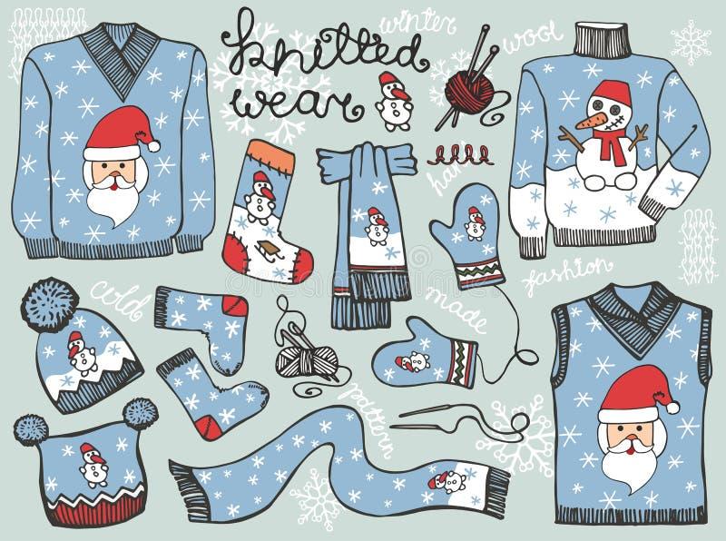 Πλεκτός Χριστούγεννα αρσενικός ιματισμός Ένδυση μόδας ελεύθερη απεικόνιση δικαιώματος