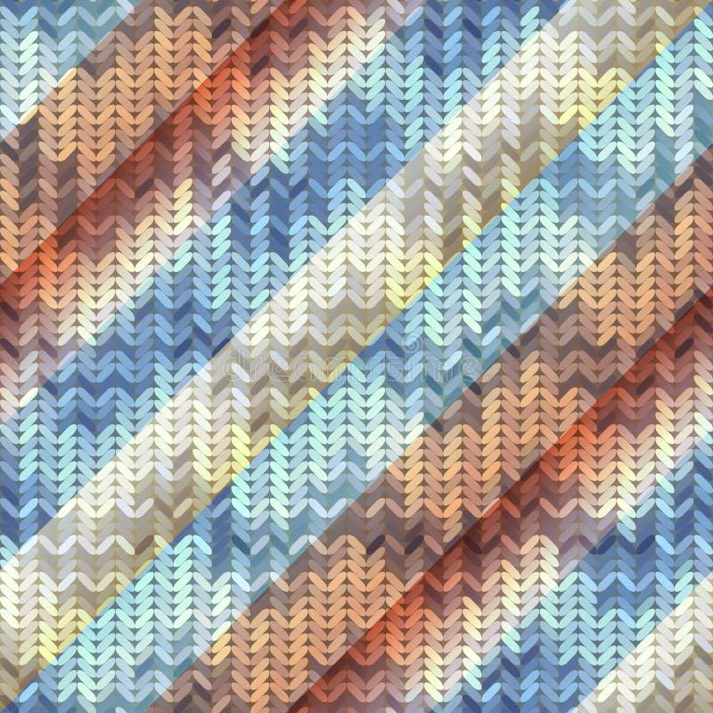 Πλεκτό σχέδιο στο διαγώνιο backgrund διανυσματική απεικόνιση