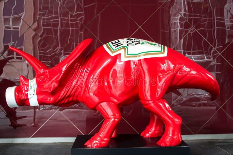 Πλευρά δεινοσαύρων κέτσαπ της Heinz στοκ φωτογραφία