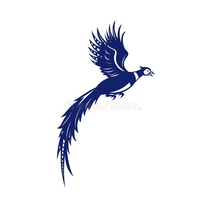 Πλευρά πετάγματος πτηνών πουλιών φασιανών αναδρομική ελεύθερη απεικόνιση δικαιώματος