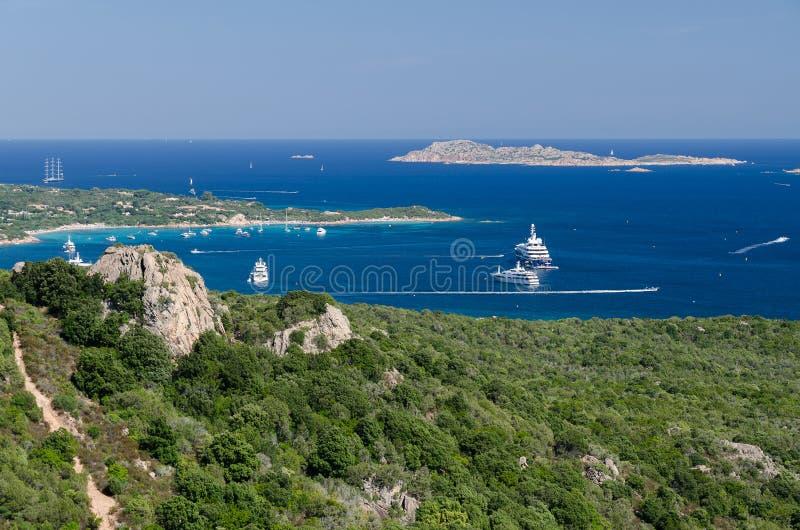 Πλευρά Smeralda, Σαρδηνία στοκ φωτογραφία
