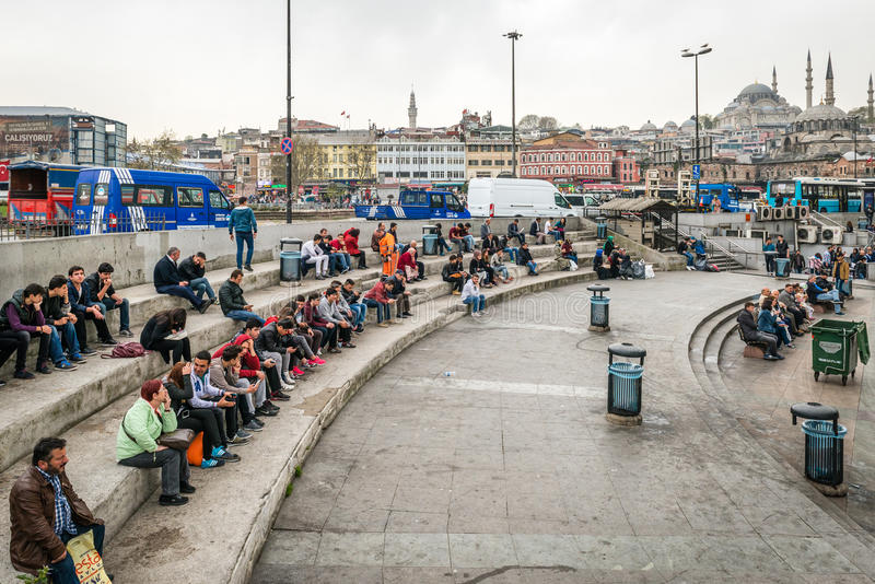 Πληθυσμοί και οδοί της Ιστανμπούλ, Τουρκία στοκ φωτογραφίες με δικαίωμα ελεύθερης χρήσης