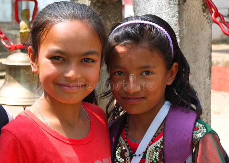 Πληθυσμοί του Νεπάλ στοκ εικόνες
