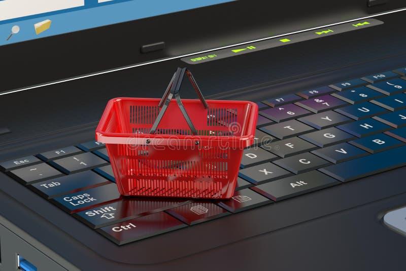 πληκτρολόγιο πιστωτικών ε χεριών έννοιας υπολογιστών εμπορίου καρτών ελεύθερη απεικόνιση δικαιώματος