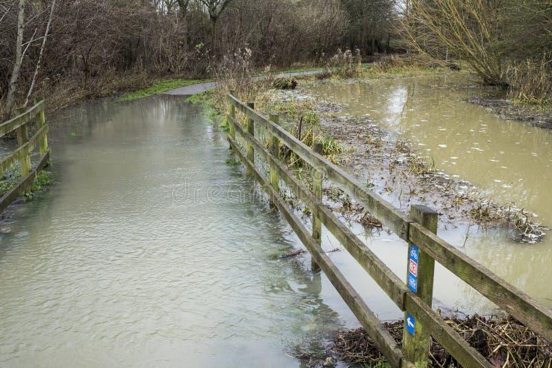 Πλημμυρισμένη πορεία στοκ φωτογραφίες