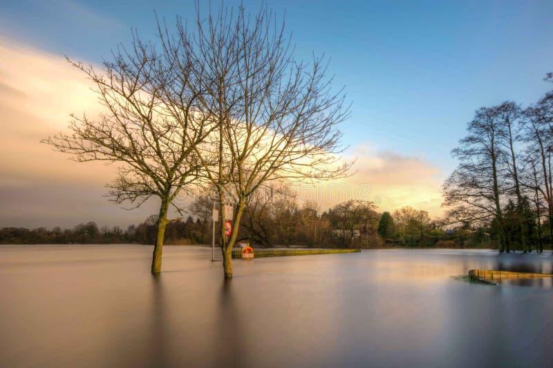 Πλημμύρα του Shannon ποταμών στοκ φωτογραφία με δικαίωμα ελεύθερης χρήσης