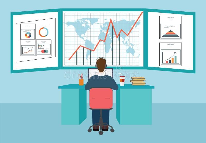 Πληροφορίες και ανάπτυξη analytics Ιστού διανυσματική απεικόνιση
