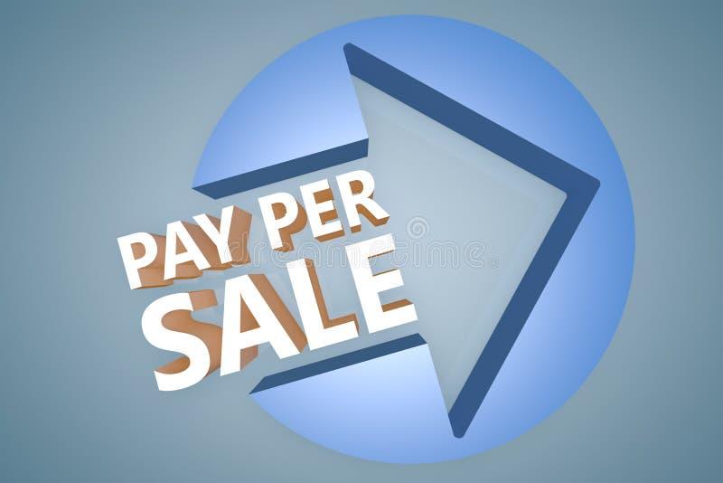 Πληρώστε ανά πώληση διανυσματική απεικόνιση