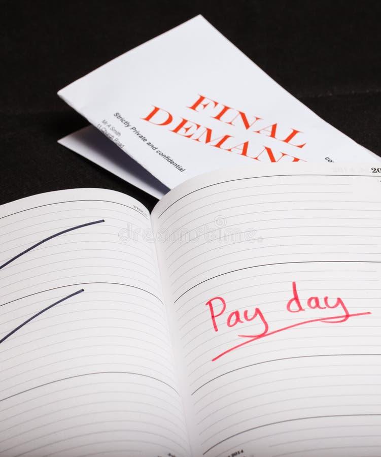 Πληρώστε το δάνειο ημέρας στοκ εικόνα