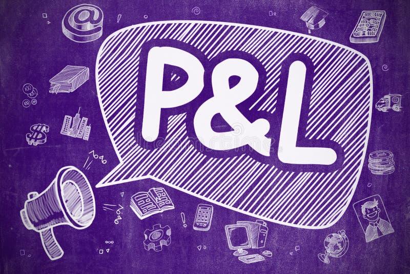 Π και Λ - απεικόνιση Doodle στον πορφυρό πίνακα κιμωλίας απεικόνιση αποθεμάτων