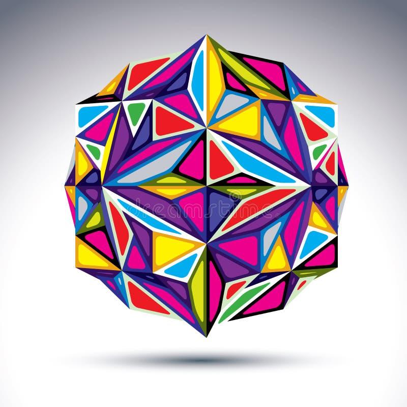 Πλούσιος τρισδιάστατος αφηρημένος psychedelic fractal αριθμός Διανυσματικό ζωηρό compli απεικόνιση αποθεμάτων