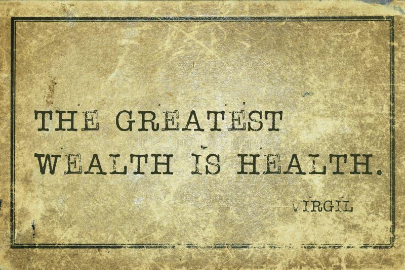 Πλούτος Virgil υγείας στοκ εικόνα