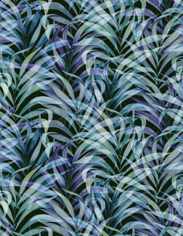 Πλυμένο σχέδιο φοινικών, εξασθενισμένα χρώματα στοκ φωτογραφία με δικαίωμα ελεύθερης χρήσης