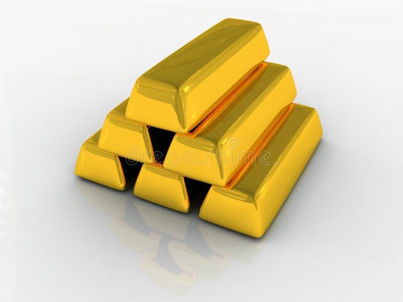 ράβδοι χρυσές αρκετές απεικόνιση αποθεμάτων