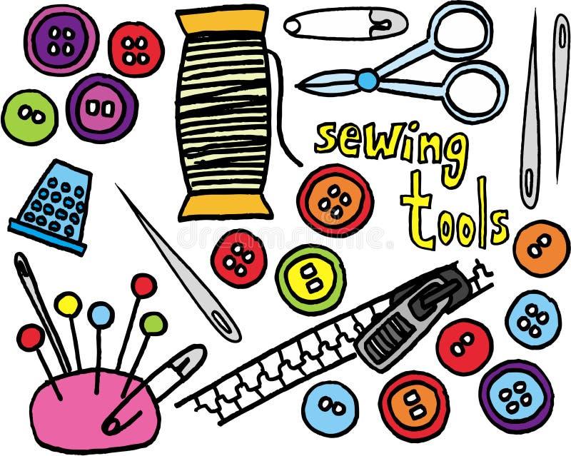 ράβοντας εργαλεία απεικόνιση αποθεμάτων